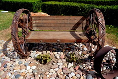 Wagon Wheel Bench HBM (The Old Texan) Tags: bench wagonwheel passionphotography