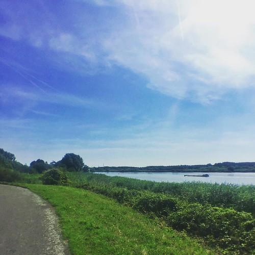 Cycling along The Schelde
