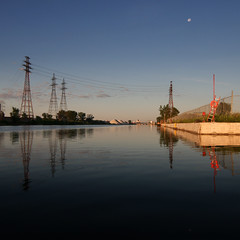 WayHome (Michael Mitchener) Tags: toronto sunrise paddle canoe nessie shipchannel portlands