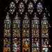 Stained glass window, S.III, Tewkesbury Abbey