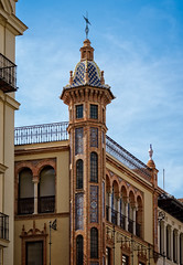 Tiles (Tiigra) Tags: sevilla andalucía spain es 2015 architecture city dome fence lattice ornament roof seville tower