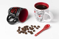 Coffee (Fabiosantos25) Tags: ef100f28l ef100f28islmacro coffee café xícaras vermelho red cup cupofcoffee colher spoon redspoon