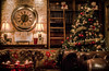 The Warmth of Christmas (mveskilt) Tags: christmas room decorations clock tree couch bookshelf books ladder lamps lights candles glow warm cosy hotel livingroom martin veskilt photography photo digitalphotography dslr art interior