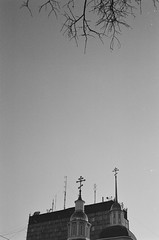 (nVa17) Tags: crosses antennas sky branches up down upanddown minimalism minimal city perm        film filmphotography filmisnotdead analog 35mm  blackwhite blackandwhite blackandwhitephotography bnw bw