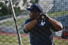 Tim Raines BP, 2000 (NJ Baseball) Tags: 2000 timraines somersetpatriots atlanticleague independentleague newjersey bridgewater somersetcounty halloffamer