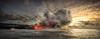 Crowded (Traylor Photography) Tags: sunrise evaporate crowded vacation clouds lights morning ocean molten smoke tourguide eruption sea distance hawaii steam bigisland lava panorama pāhoa unitedstates us