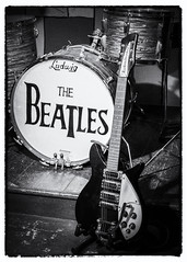 The Beatles (Rupert Brun) Tags: beatles fabfour fab4 drum guitar stage blackandwhite monochrome liverpool mersey beat ludwig drums rickenbacker albert dock albertdock cavernclub