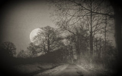 The Moon (ursulamller900) Tags: pentacon28100 collage bw moon mond hss dark night nacht doubleexposure