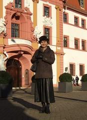 Thuringian state councellery (Marie-Christine.TV) Tags: feminine transvestite lady mariechristine erfurt leather skirt laced boots lederrock schnürstiefel tgirl tgurl gloves lederhandschuhe