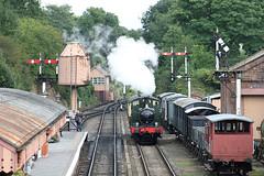 Bewdley autotrain (Bingley Hall) Tags: rail railway railroad transport train transportation trainspotting uk england britain steam locomotive engine heritage preservation tourism bewdley svr severnvalleyrailway station semaphore