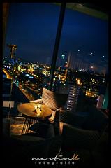 Skybar (Krueger_Martin) Tags: skyscraper hotel skybar sky himme light lights licht city stadt urban andels landsbergerallee night nacht blue blau hdr photomatix 24mm weitwinkel wideangle canoneos5dmarkii canoneos5dmark2 canonef24mmf14lii cocktailbar bar lounge bokeh beyoundbokeh berlin