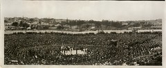 Burns-Johnson boxing contest, December 26th 1908 / photographed by Charles Kerry (State Library of New South Wales collection) Tags: statelibraryofnewsouthwales panorama