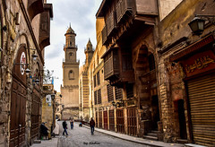 Old Cairo (Nadia Rifaat) Tags: islamic architecture old cairo egypt muizz street mosque minaret photography landscape outdoor nikon d5300 18140mm