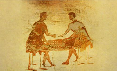 "Petteia - Ludus Latrunculorum  / Iconografía de las civilizaciones helenolatinas • <a style=""font-size:0.8em;"" href=""http://www.flickr.com/photos/30735181@N00/32522187855/"" target=""_blank"">View on Flickr</a>"