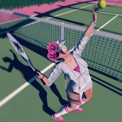 {Blog 142} Tennis Anyone? (veronica gearz) Tags: avi avatar alex blogging bloggers blogger blog blogs maitreya mesh life logo 2ndlife secondlife second sl summer spring tennis astralia cynful tetra izzies repose emarie serenitystyle earthstones ttsports