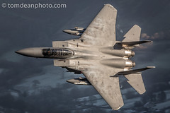 USAF F-15E 'ROAR 21' (Tom Dean.) Tags: 96204 whitney pratt usa vapour steam background frost steaming roar f15 december strikeeagle lakenheath explored explore f15e eagle light sun winter