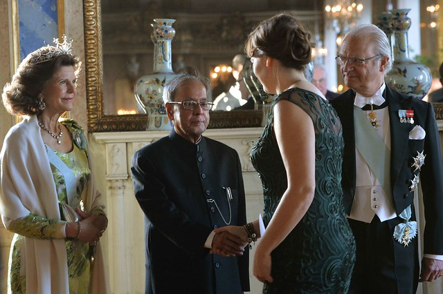 President during Banquet hosted by their Majesties H.M. King Carl XVI Gustf and Queen. Princess Victoria, His Royal Highness Prince Carl Philip and Ms. SOFIA HELLQVIST also attended at Royal Palace during his state visit of Sweden (01.06.15.) RB-Photo