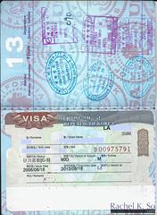 Visa for South Korea (2008) (InSapphoWeTrust) Tags: asia korea passport southkorea visa incheon 韓國 인천 한국 仁川 대한민국 republicofkorea 大韓民國