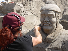 Sandsculptures Sneek 2015, making (Alta alatis patent) Tags: china artist warrior making sandsculptures sneek