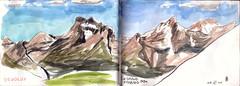 150604 Grand-Ferrand 2758m (Vincent Desplanche) Tags: mountain montagne watercolor sketch aquarelle sketchbook neocolor croquis champsaur