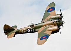 Gorgeous Blenheim Bomber.. (mickb6265) Tags: duxford shuttleworthcollection oldwarden bristolblenheim aircraftrestorationcompany johnromain l6739 militarypageantairshow2015