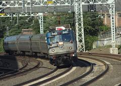 Amtrak 55 of America (RunnningWithScalpels) Tags: amtrak westhaven vermonter northeastcorridor aem7