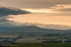 Sunset over the Cheviots, from Corby's Crags (Craig Richardson) Tags: sunset hills northumberland 70300mm northeast cheviots d700 corbyscrags