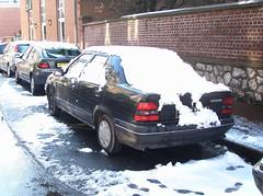 Renault 19 Chamade ... dans la neige (gueguette80 ... non voyant pour une dure indte) Tags: old snow cars renault neige autos 2008 avril 19 picardie abbeville somme anciennes chamade franaises