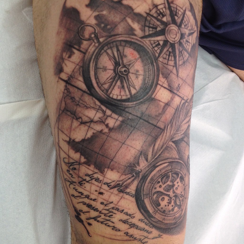 The worlds newest photos of map and tattoo flickr hive mind compass pocket watch and old sailor map melinavillaverde tags uk sea england gumiabroncs Choice Image