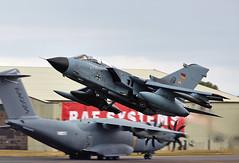 Tornado (Bernie Condon) Tags: uk tattoo plane flying european display aircraft aviation military attack jet airshow strike bomber tornado vg warplane airfield ffd fairford ids riat panavia raffairford airtattoo swingwing riat15