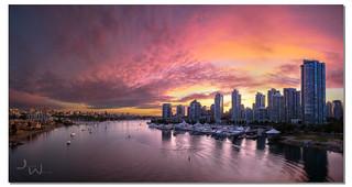 Summer Sunset, Vancouver, British Columbia, Canada