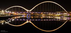 Infinity Bridge (handmiles) Tags: colour stockton england bridge architecture infinity infinitybridge river rivertees reflection water mirror night nightphoto nightphotography sony sonya77mark2 sonya77m2 tamron tamron1024mm wideangle mileshandphotography2017