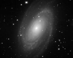 Messier 81 (paulwhitmarshastro) Tags: messier81 m81 galaxy spiral telescope astronomy blackandwhite ursamajor losmandy starlightxpress astrometrydotnet:id=nova1910035 astrometrydotnet:status=solved