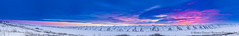 Slow return of the sun (Mathieu Dumond) Tags: canada arctic nunavut coppermineriver kugluktuk december winter sunrise sunset hills sky colors clouds magenta blue snow cold landscape nature panorama canon 5dmkiii mathieudumond umingmakproductionsproductions