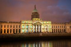 Custom house Dublin (Gerard Knight) Tags: custom customhouse dublin light show river liffey