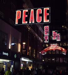 Peace, Hope, Love, Joy, Kiss and Beauty in Carnaby St, London Xmas 2016 (Cybermyth13) Tags: lights london carnabystreet carnaby londonist christmas westend centrallondon peace love hope joy kiss beauty boots chemist shopping shops soho 2016