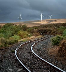 Overberg Railway Turbines (Panorama Paul) Tags: paulbruinsphotography wwwpaulbruinscoza southafrica westerncape overberg railwayline windturbines nikond800 nikkorlenses nikfilters vertorama
