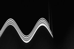 the end of  waves (claredlgm1) Tags: surreal abstract waves black white lines curves stripes contrast