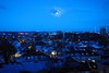 Snow on the rooftops (zawtowers) Tags: croydon surrey snow winter january 2017 rooftops blue sky moon flurry white