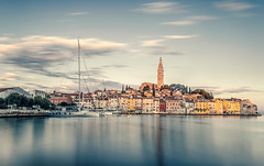 Croatia (PokemonaDeChroma) Tags: rovinj rovigno croatia croatie landscape paysage townscape harbour church svetaeufemija sea sky old town longexposure leebigstopper clouds nuages ciel mer port bateaux boats vieux vielle canoneos6d longue eglise ville travel serenity exposition sérénité juillet july 2016 été summer europe morning matin pier urban quiet peaceful paisible
