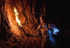 Dragonborn (Elderx Photography) Tags: skyrim dragonborn cosplay fire cave torch