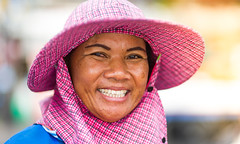 People of Thailand (chrom9) Tags: food woman nikon thailand jomtien pattaya portrait d3 smile pretty beauty lady seller thai