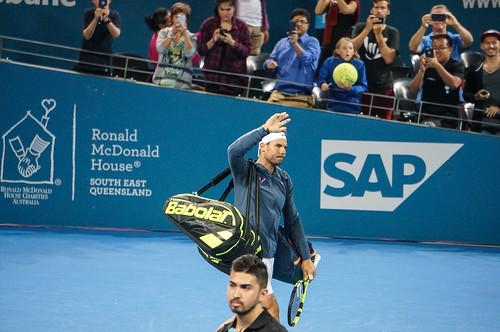 Rafael Nadal Enters Pat Rafter Arena