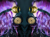 Twofold (cowboy72) Tags: lottielix steampunk goggles mask gasmask purplehair model ringlight canon135f2l