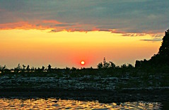 at the gate of every new reality, you must be still (ellyn writing) Tags: whiskeyharbour brucepeninsula lakehuron ontario canada sunset swimming diving newreality still stillness spindrift txeeptopaz