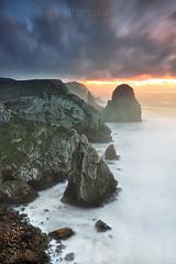 Carved by nature (FredConcha) Tags: ursa portugal cliffs rocks nature landscape sunset fredconcha nikon d90 parquenaturalsintracascais
