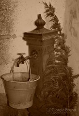 About shadow.. (giorgiabruno) Tags: old life bucket fountain play them shadow enjoy italy nikon d3300 monochrome genuine simplicity easy year years country part culture 3d environment italian roots