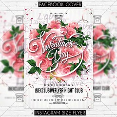 Valentine Day Celebration - Premium Flyer Template (ExclusiveFlyer) Tags: exclusiveflyer psd freeflyer freepsd diadesanvalentin fiesta happyvalentinesday happyvalentines heart kiss love loveday lovers night noche party red romantic