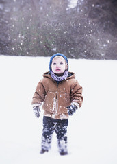 Tiny Snow Angel (taylormackenzie) Tags: nikon d3000 remember me photography dallas north carolina son toddler little boy baby crazy hair winter snow snowing january cold snowflakes carhart jacket hat snug warm pink lips wondrous tiny adorable cute sweet innocent first
