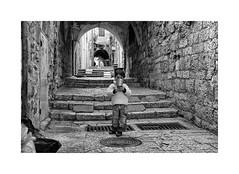 (Jan Dobrovsky) Tags: city contrast document grain israel jerusalem middleeast monochrome nikond80 oldtown people stone street texture